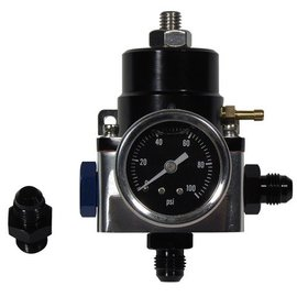 Tanks Inc. Adj. Fuel Pressure Regulator w/ Fittings & Gauge 35-70 PSI