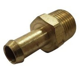 "Tanks Inc. 3/8"" NPT To 3/8"" Hose Barb Straight Fitting - BF38"