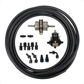 Tanks Inc. Carbureted Fuel Line Kit w/ Bypass w/2 - 45 Degree Hose Ends - CARB-LINE-KIT45
