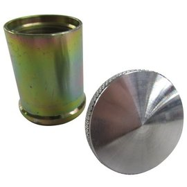 """Tanks Inc. Fuel Cap w/Weld-in Bung - Stainless Steel neck - 2"""" tall - EZ2S"""