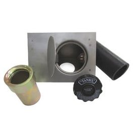 Tanks Inc. Fuel Filler Door Kit - Flat with Angled Enclosure - FFD-A