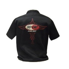So-Cal Speed Shop SC 27 - SO-CAL Speed Shop Logo Pinstripe Work Shirt