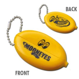 Mooneyes Mooneyes Yellow Oval Coin Case Key Chain