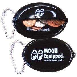 Mooneyes Mooneyes Black Oval Coin Case Key Chain