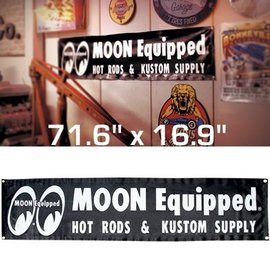 Mooneyes MOON Equipped Black Vinyl Banner