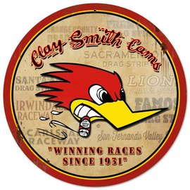 Clay Smith Cams Clay Smith Winning Races Garage Sign