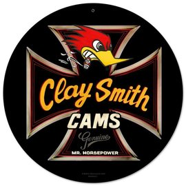 Clay Smith Cams Round Iron Cross Garage Sign
