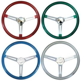 Mooneyes California Metal Flake Steering Wheel - Slotted Spokes