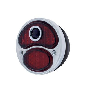 United Pacific 28-31 Ford LED Tail Light Assembly w/Blue Dot - Black Housing - RH - FTL2831BD-BAR