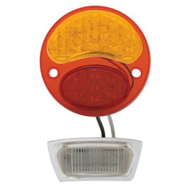 United Pacific 28-31 Ford 6 Volt LED Tail Light Red/Amber Lens - LH - FTL2831RA6-L