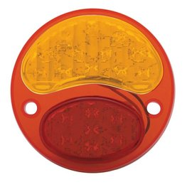 United Pacific 28-31 Ford 6 Volt LED Tail Light Red/Amber Lens - RH - FTL2831RA6-R