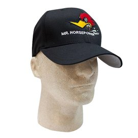 Clay Smith Cams Mr. Horsepower Black Hat with Front Logo