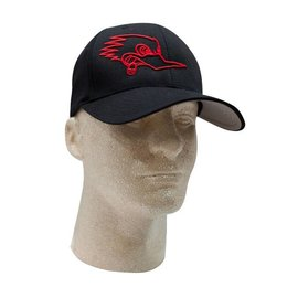 Clay Smith Cams Mr. Horsepower Black Hat with Red Outline Logo