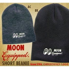 Mooneyes MOON Equipped Beanie - Black or Gray