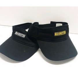 Mooneyes Black Visor w/Yellow or White Logo