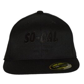 So-Cal Speed Shop Script Flat Bill Hat - Black, Brown or Gray