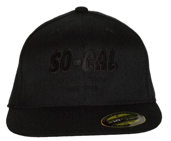 033f7e6eb4dfa2 So-Cal Speed Shop Script Flat Bill Hat - Black, Brown or Gray ...