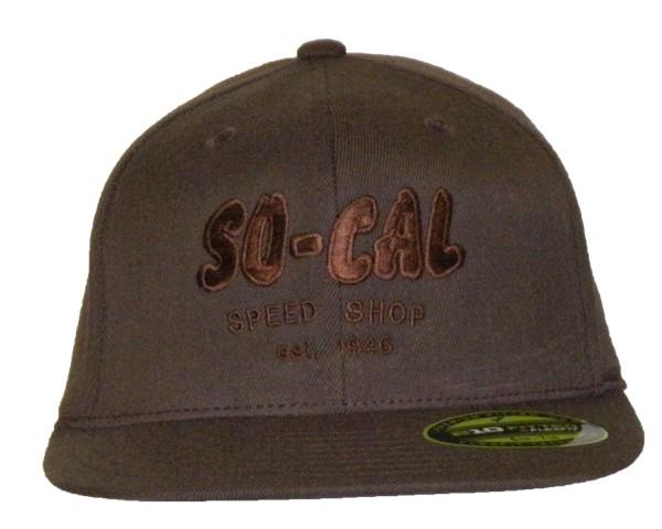 d86ebd7cdd6e71 ... So-Cal Speed Shop Script Flat Bill Hat - Black, Brown or Gray ...