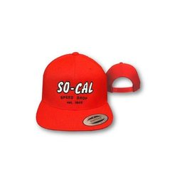 So-Cal Speed Shop Script Snap Back Hat - Red, White or Navy