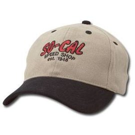 So-Cal Speed Shop Adjustable Script Khaki Hat - Original or Washed