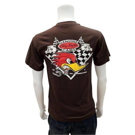 Clay Smith Cams Mr. Horsepower Vintage Logo - Brown