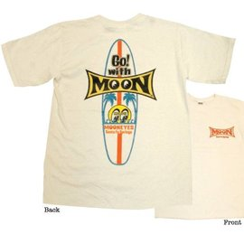 Mooneyes Youth Surfboard T-Shirt - Natural