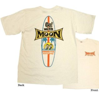 Mooneyes Youth Surfboard T-Shirt - Natural
