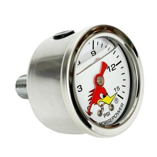 Clay Smith Cams Clay Smith Cam Fuel Pressure Gauge - White Face