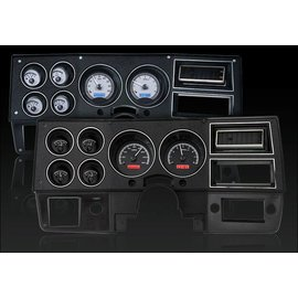 Dakota Digital 73- 87 Chevy PU VHX - Black/White - VHX-73C-PU-K-W