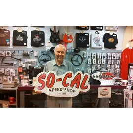So-Cal Speed Shop Garage Sign - So-Cal Large Tin Script