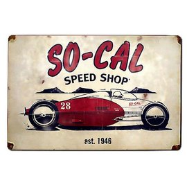 So-Cal Speed Shop Garage Sign - SO-CAL Belly Tank