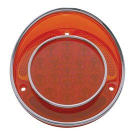 United Pacific 68-73 Corvette LED Tail light W/ Stainless  Trim - #CTL6804LED
