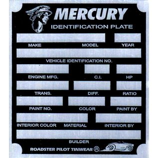 Affordable Street Rods C8 Vin Tag - Mercury ID Plate