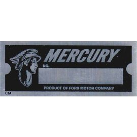 Affordable Street Rods D2 Vin Tag - Mercury w/Logo (1 Line)