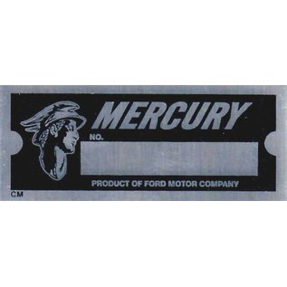 Affordable Street Rods D2 Vin Tag - Mercury w/Logo (1 Line)