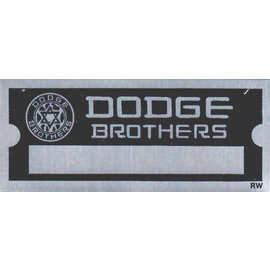 Affordable Street Rods D3 Vin Tag - Dodge Brothers (1 Line)