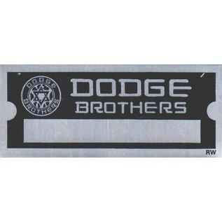 Affordable Street Rods D3 Vin Tag - Dodge Brothers (1 Line)