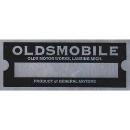 Affordable Street Rods D8 Vin Tag - Oldsmobile (1 Line)