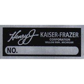 Affordable Street Rods D7 Vin Tag - Henry J Kaiser-Frazier (1 Line)