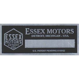 Affordable Street Rods E1 Vin Tag - Essex Motors (1 Line)