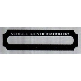 Affordable Street Rods F6 Vin Tag - Vehicle Identification No
