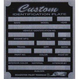 Affordable Street Rods F7 Vin Tag - Custom ID Plate