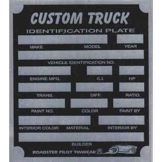 Affordable Street Rods F9 Vin Tag - Custom Truck ID Plate