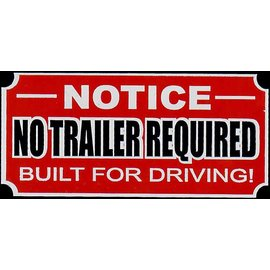 Affordable Street Rods I9 Vin Tag - Notice No Trailer Required