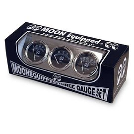 Mooneyes 3 Gauge Set - Under Dash - MPG5030