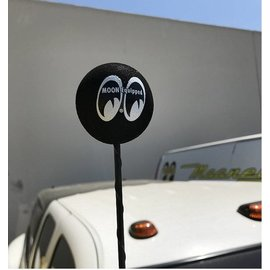 Mooneyes Antenna Topper - Moon Ball - Black - MG015BK