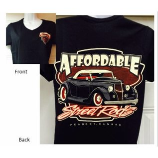 Affordable Street Rods RP 02A - ASR Original Logo w/Small Pinstripe Front - Ladies V-Neck