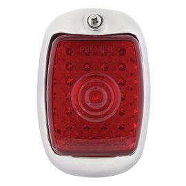 United Pacific 40-53 Chevy Truck LED Tail Light Assembly - LH Black Hsg/ Red Lens - #C7031RL