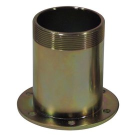 "Tanks Inc. 2-1/4"" OD X 2"" Tall Threaded Neck w/ 3-1/4"" Mounting Flange - 2FTN"