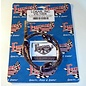 """Lokar Cloth Covered Throttle Cable - 24"""" - Black With Blue Tracer - VS-1004"""